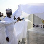 [PHOTOS]: NNPC Hands Over Medical Equipments to UniAbuja Teaching Hospital to Combat COVID-19